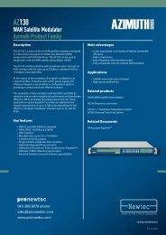 AZ130 WAN Satellite Modulator - TBC Integration