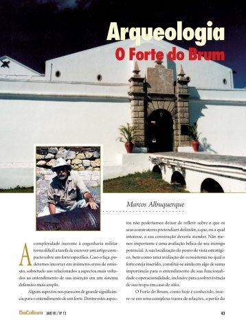Arqueologia O Forte do Brum - FunCEB