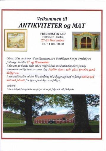 ANTIKVITETER og MA T