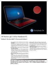 HP Pavilion g6-1169sa Notebook PC - Etilize