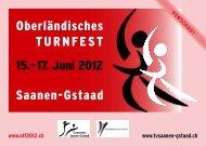 Flyer Oktober 2010 - Oberländisches Turnfest 2012 Saanen-Gstaad