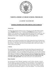 General Information for Parents 2008-2009