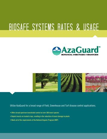 AzaGuard Rates & Usage Guide - BioSafe Systems