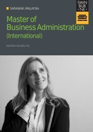 MBA (INTERNATIONAL) Brochure - Swinburne University of ...