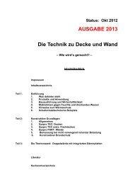 AUSGABE 2013 Die Technik zu Decke und Wand - Syspro.de
