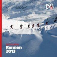 Booklet Skitouren Rennen 2013 - SAC