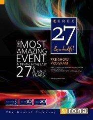 Pre-Show Program - CEREC 27 and a half