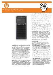 HP ProLiant ML330 G6 Server– Datenblatt - OMEGA
