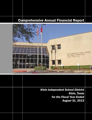 CAFR - Klein Independent School District