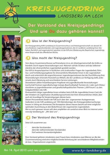 Info Vorstandswahl 2010.pdf - Kreisjugendring Landsberg am Lech