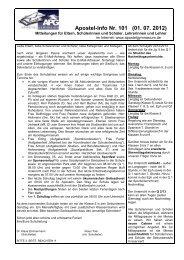 Apostel-Info Nr. 101 - Juli 2012 - Apostelgymnasium
