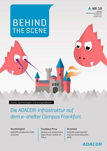 Die ADACOR-Infrastruktur auf dem e-shelter Campus Frankfurt