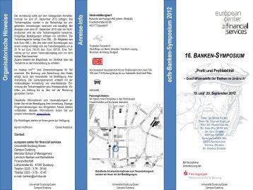 Tagungsflyer Symposium 2012 - ecfs