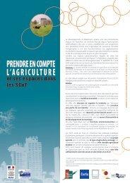 PRENDRE EN COMPTE L'AGRICULTURE - Réseau Rural Français