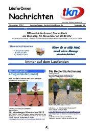LäuferInnen Nachrichten November 2012 Ausgabe 68