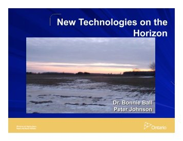 New Technologies on the Horizon - Ontario Soil and Crop ...