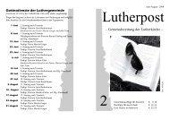 Gottesdienste der Luthergemeinde - Lutherkirche Kiel