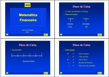 Matemática Financeira - IAG - A Escola de Negócios da PUC-Rio