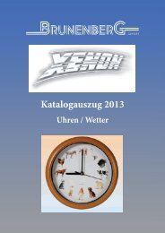 Katalogauszug 2013 - Brunenberg GmbH