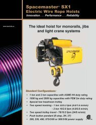 Spacemaster SX1 Electric Wire Rope Hoists