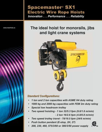 Yale Global King Electric Wire Rope Hoist Brochure - Ergonomic ...