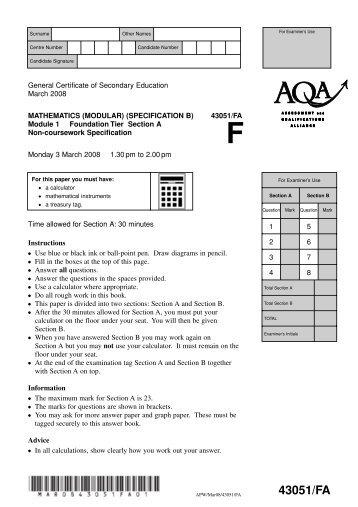 Maths Gcse Past Papers Edexcel June 2008 - edexcel gcse