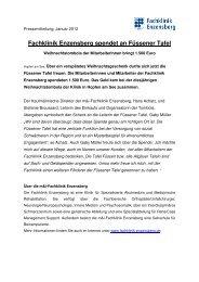 Fachklinik Enzensberg spendet an Füssener Tafel - Extern.fachklinik ...