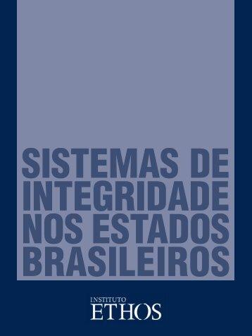Sistema de Integridade nos Estados Brasileiros - Instituto Ethos