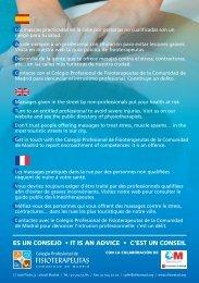 es un consejo • it is an advice • c'est un conseil - Colegio Profesional ...