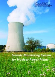 Seismic Monitoring System for Nuclear Power Plants - GeoSIG Ltd.