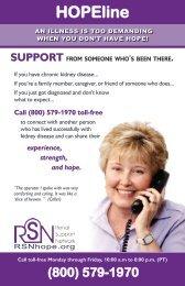 HOPEline - Renal Support Network