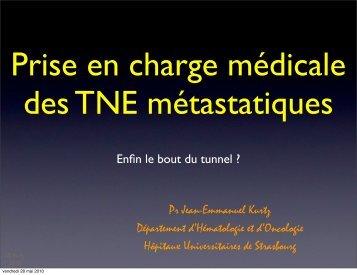 Prise en charge médicale des TNE métastatiques