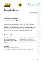 Presseaussendung - Krebshilfe Oberösterreich