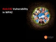 WPA2-Hole196-Webinar.. - AirTight Networks