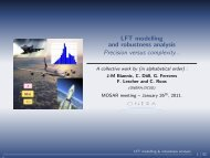 LFT modelling *-1mm and robustness analysis Precision versus ...