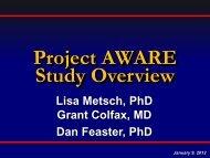 2012.01.09 FCHAR Meeting - Metsch Presentation - The AIDS Institute