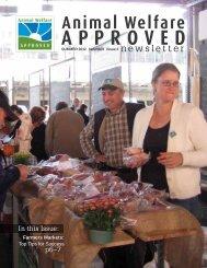Summer 2012 Animal Welfare Approved Newsletter