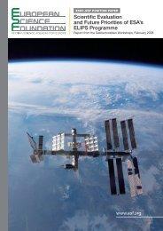 Scientific Evaluation and Future Priorities of ESA's ELIPS Programme