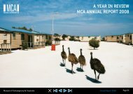 A YeAr in review MCA AnnuAl report 2008 - Museum of ...