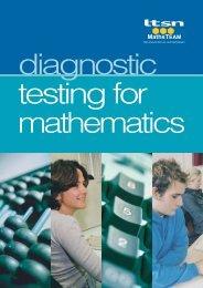 Diagnostic Testing for Mathematics - Math Centre