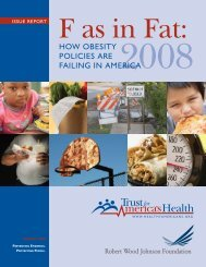 HOW OBESITY POLICIES ARE FAILING IN AMERICA - PolicyArchive