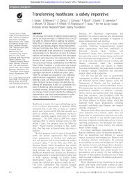 Transforming healthcare: a safety imperative - BMJ Quality and Safety