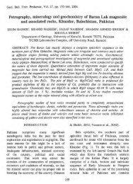 Petrography, mineralogy and geochemistry of Baran Lak magnesite
