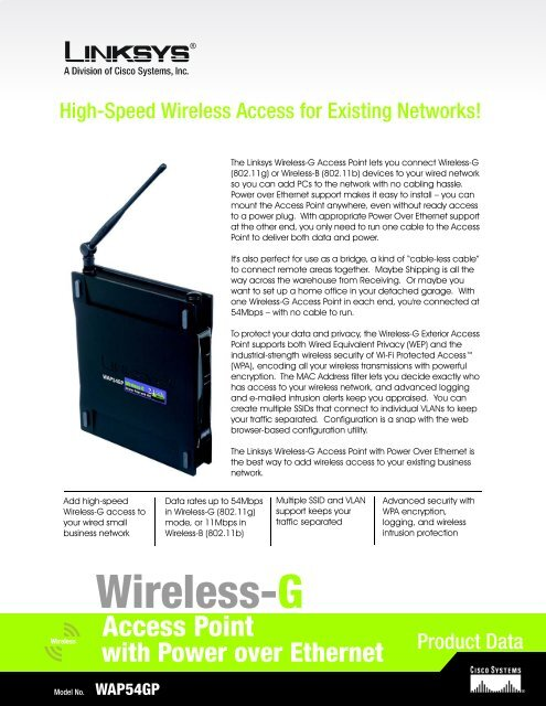 Connect to linksys wireless g access point