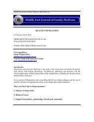 Health and Wellness - Middle East Journal of Family Medicine