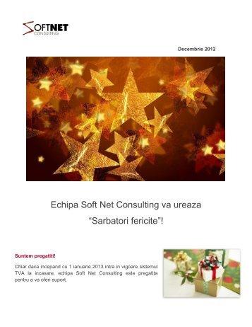 """Echipa Soft Net Consulting va ureaza """"Sarbatori fericite""""!"""