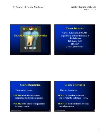 WELCOME! Introduction to Endodontics