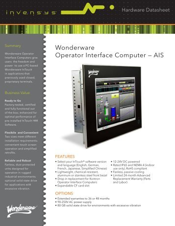 Wonderware Operator Interface Computer — AIS