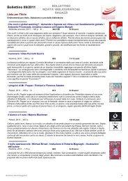 Bollettino 09/2011 - Fondazione Per Leggere